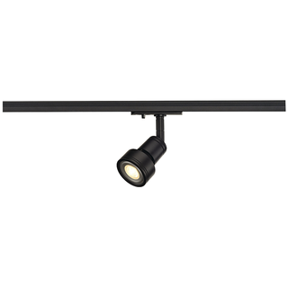 PURI SPOT-SET, schwarz, GU10, inkl. Philips 4,5W LED 3.000K 36° LM, inkl. 1P.-Adapter