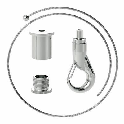 Abhängeset mit großen Haken-Gripper L = 5000mm Drahtseil ø1,8mm